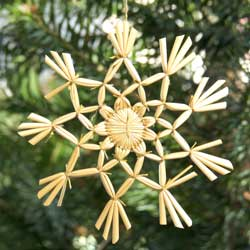 Straw Christmas Ornament from Lithuania