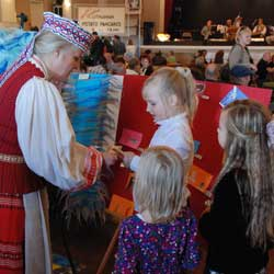 Young Girls With Lithuanian Folk Dancer