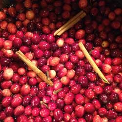 Fresh Cranberries With Cinnamon and Cloves