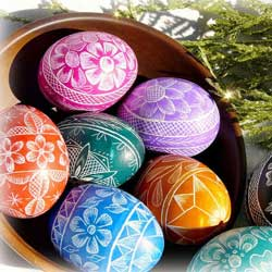 Hand-Carved Lithuanian Easter Eggs