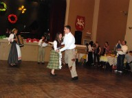 Andrius Duncia dances with his partner