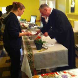 Rev. Peter Burkauskas Serves His Grandmother's Recipe