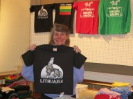 Aušra has Lithuanian t-shirts!
