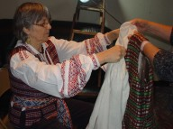 Aldona Rygelis studies and documents traditional Lithuanian folk costumes